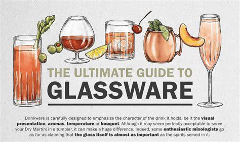 barware glasses guide the ultimate guide to glassware infographic visualistan