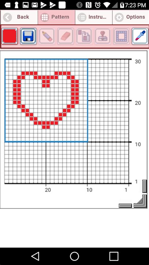 android pattern simulator crochet graphghan pattern creator android apps on google