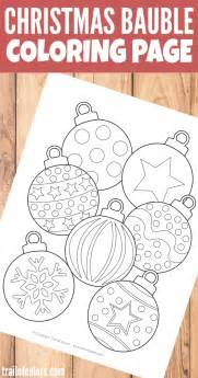 christmas bauble coloring page for kids trail of colors