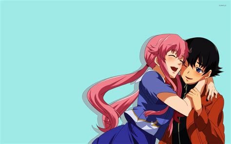 wallpaper anime yuno yukiteru and yuno future diary wallpaper anime