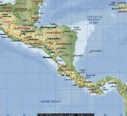 physical map of south america and central america travels with the burnhams