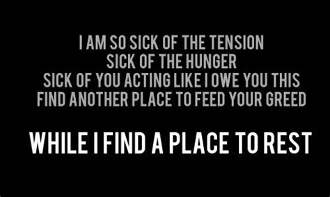 A Place Song Lyrics A Place For My Linkin Park Lyrics Linkin Park Lyrics Song Quotes Parks