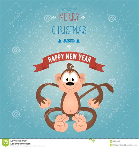 monkey new year wishes new year greetings breakfast invitation