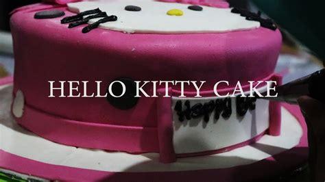 cara membuat es krim hello kitty cara menghias kue hello kitty fondant how to make