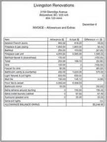 bathroom remodel sample of invoice tsc free home remodeling software idolza