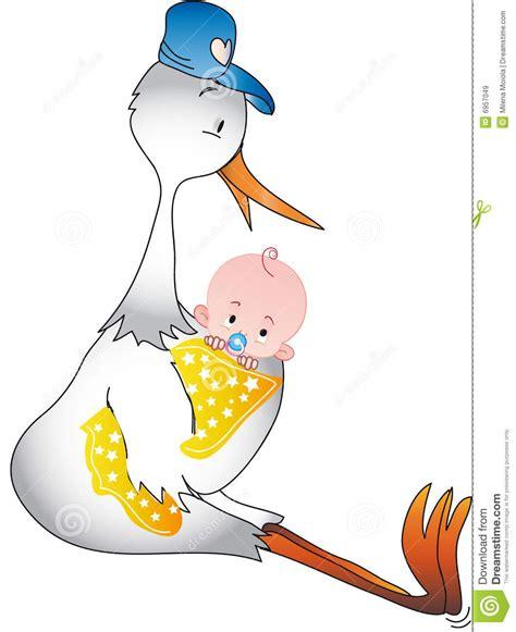 clipart nascita bambino disegno di cicogna con bambino da colorare per bambini