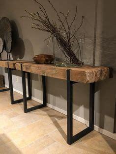 Table Metal Bois 4591 by Sidetable Massief Teakhout Met Zwart Stalen Frame Tafels