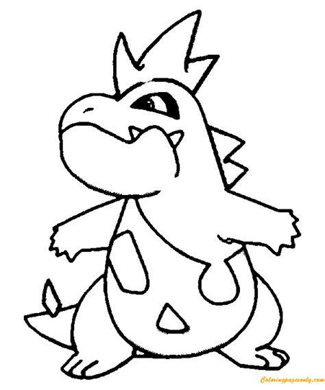 pokemon coloring pages feraligatr croconaw pokemon coloring page free coloring pages online