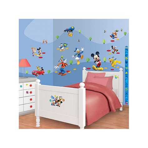 mickey mouse clubhouse room decor walltastic disney mickey mouse clubhouse 41448 wall stickers