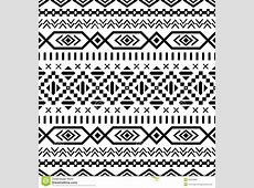 Ethnic Striped Seamless Pattern. Stock Vector ... Tribal Print Pattern Black And White