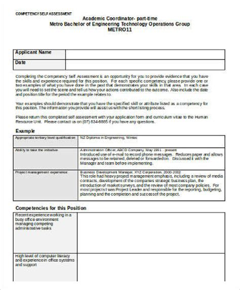 Competency Assessment Templates 9 Free Word Pdf Documents Download Free Premium Templates Employee Competency Assessment Template