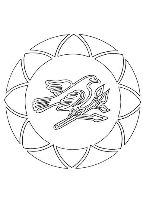 Coloriage Mandalas Oiseau Sur Hugolescargot Com S Coloriage Oiseau Facile L