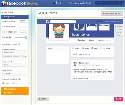 theme maker dawnload facebook theme creator download