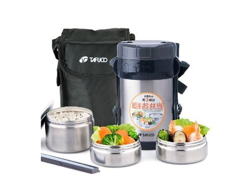 Zojirushi Lunch Jar 3 Tier stainless steel lunch box container thermos food jar