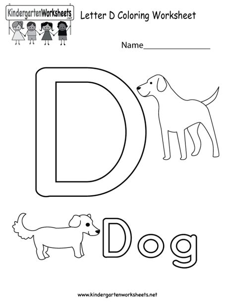 d coloring pages for kindergarten coloring pages free printable letter d coloring worksheet