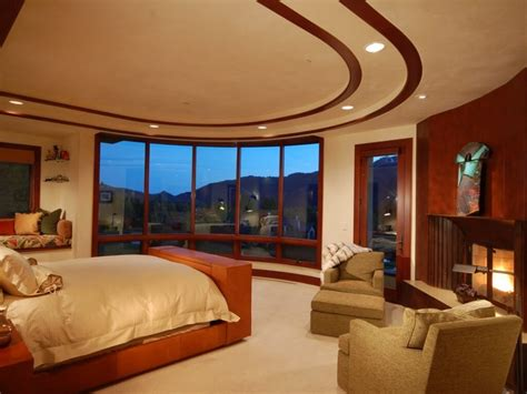 large master bedroom spacious idaho contemporary mansion on a golf course with