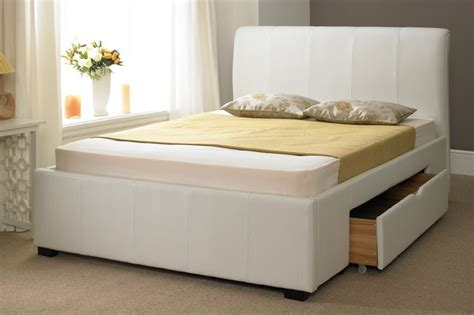 dresden 4 ft 6 drawer storage bed white faux leather 2 drawer storage bed 4ft 4ft6 5ft 6ft