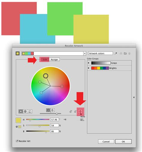 edit pattern color illustrator how to change just one color value for multiple objects in
