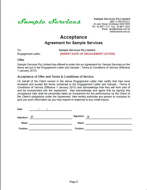 Acceptance Letter Construction Work New Tradesafe Contracts Documentation Overview Sles Business Professional Services