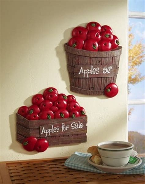 apple decorations for the kitchen bushel of apples kitchen wall decor apples decor more