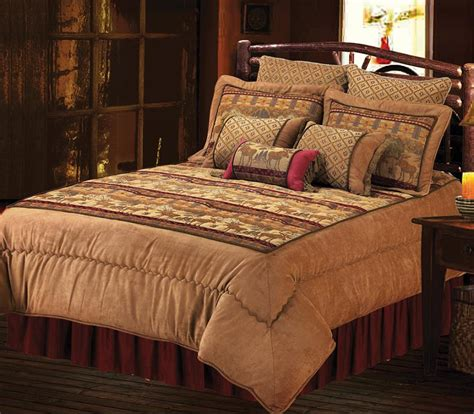 lodge comforter moose bedding rustic comforter set lodge craft
