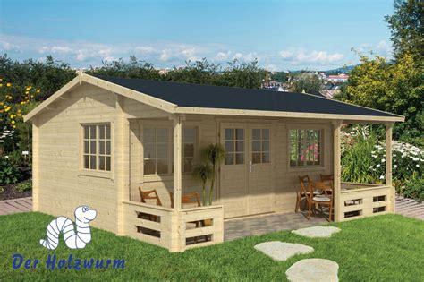 veranda 6 meter breed gartenhaus henning blockhaus 595x540cm holzhaus 58mm