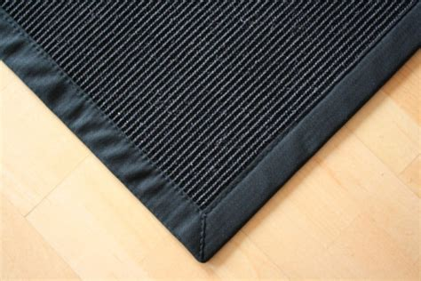 teppich sisal sisal teppich manaus schwarz mit stoffbord 252 re 040