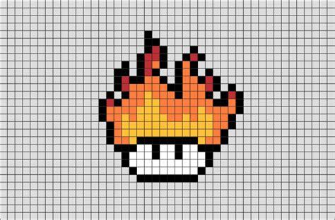 fire mushroom pixel art brik