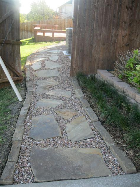 Gravel Walkway Flagstone Walkway Captain S Lawns Landscaping Inc