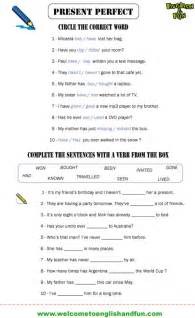 present perfect past simple worksheets pdf 4th grade