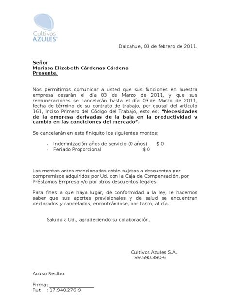 ejemplo carta de despido laboral formato carta despido aviso 30 d 237 as