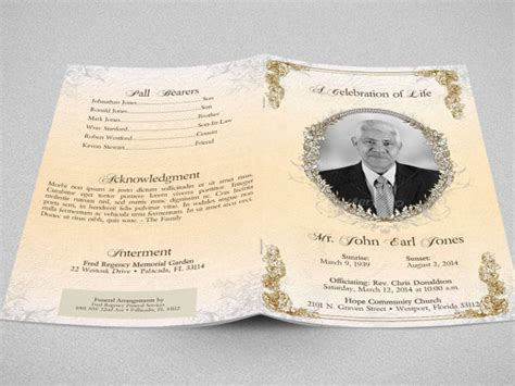 funeral program templates publisher funeral program template publisher by godserv on
