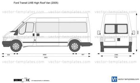 Templates Cars Ford Ford Transit Lwb High Roof Van Ford Transit Vector Template