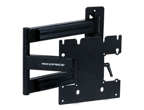 corner tv wall mount monoprice 5921 corner friendly motion tv wall mount max 80 lbs 23 40 inch