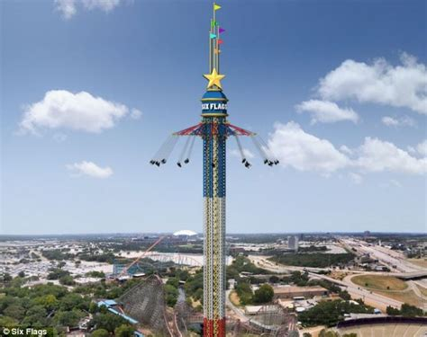 highest swing ride six flags over texas amusement park world s highest swing