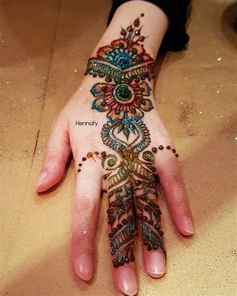 colorful henna tattoos colored henna designs mehandi design