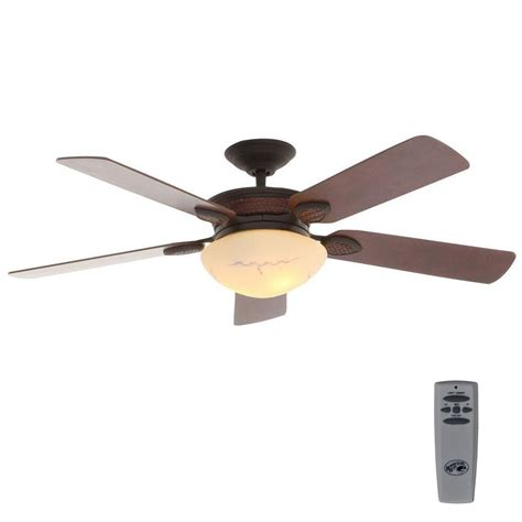 Cabin Ceiling Fans With Lights Hton Bay San Lorenzo 52 In Indoor Rustic Ceiling Fan With Light Kit And Remote