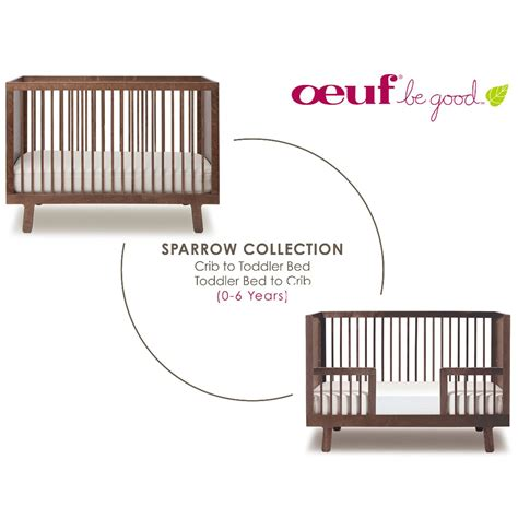 Oeuf Sparrow Crib Walnut by Sparrow Toddler Bed Conversion Kit Walnut Oeuf Nyc