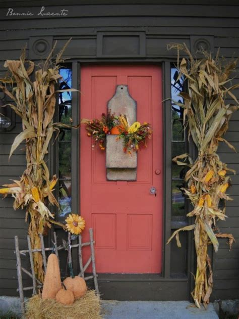 door decorations for fall 67 and inviting fall front door d 233 cor ideas digsdigs