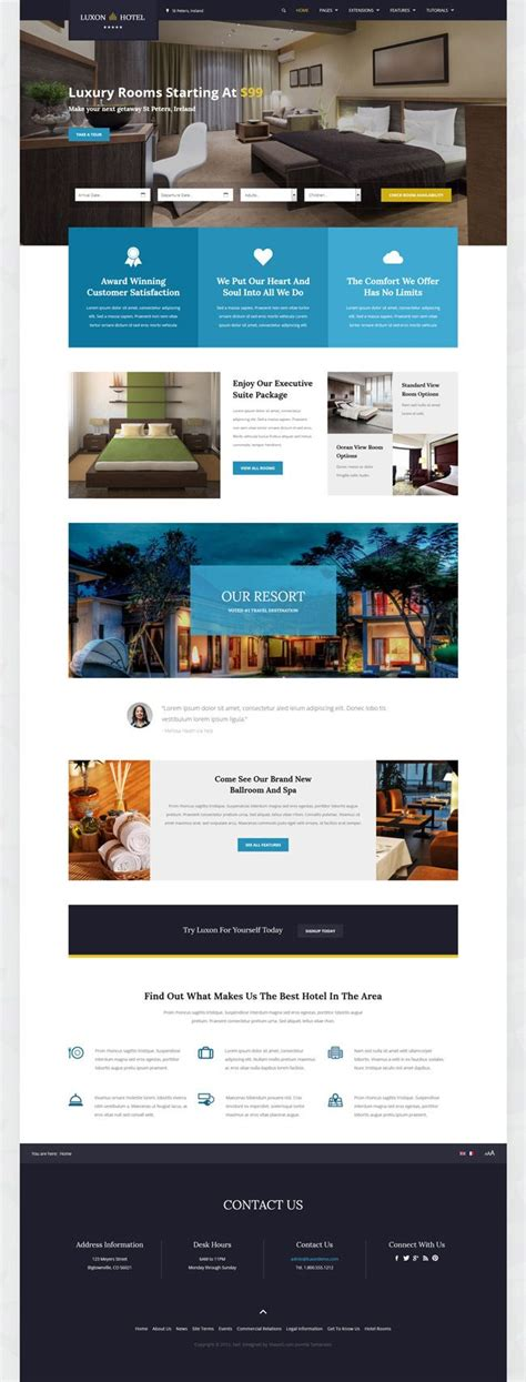 hotel template joomla shape5 joomla template luxon is the ultimate hotel and