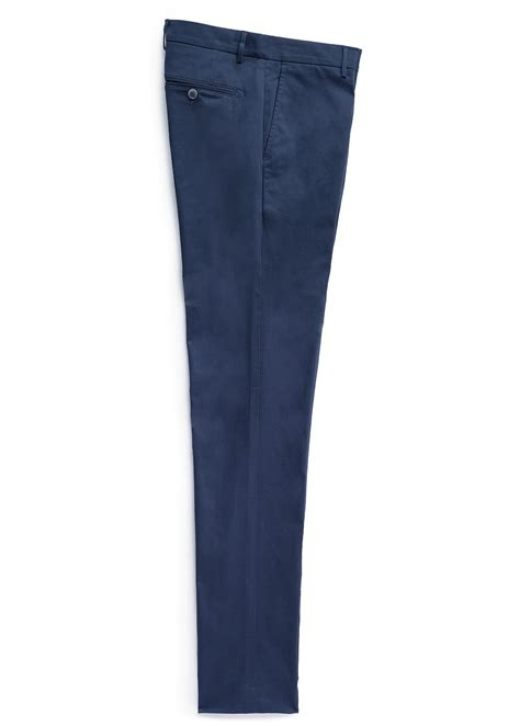 Fashion Trousers Color Slim Design Navy mango chino style trousers in blue for navy lyst