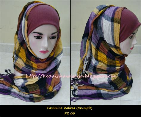 Pashmina Woll Kotak Bb boonga shawls pashmina zahraa crumple kotak kotak