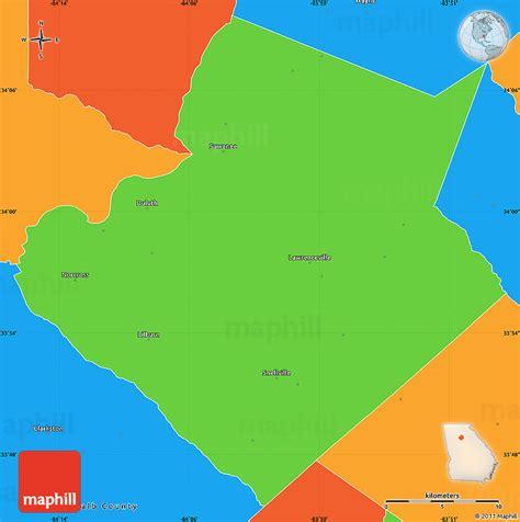 Search Gwinnett County Political Simple Map Of Gwinnett County