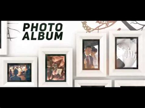 template after effects photo album photo album tree videohive after effects template youtube