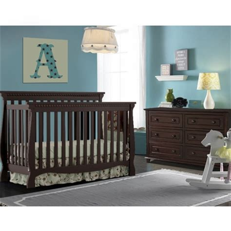 Storkcraft 2 Piece Nursery Set Venetian Convertible Crib Espresso Nursery Furniture Sets