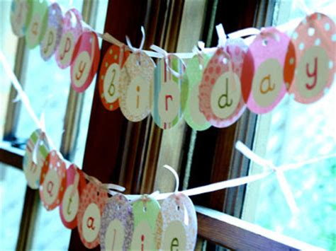 Handmade Birthday Banner Ideas - polka dot by kelsey handmade with polka dot