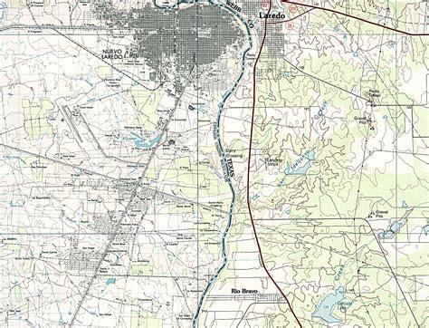 laredo texas on map nuevo laredo map 1985