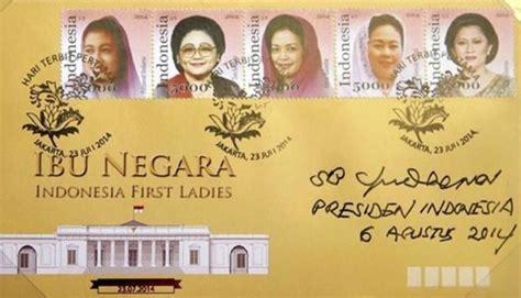 Perangko Republik Indonesia 5 perangko seri ibu negara ri resmi diluncurkan pos