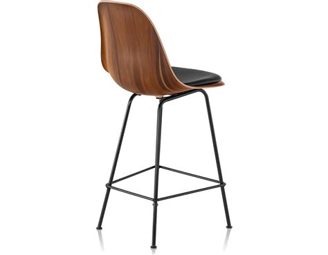 herman miller bar stools eames 174 molded wood stool with seat pad hivemodern com
