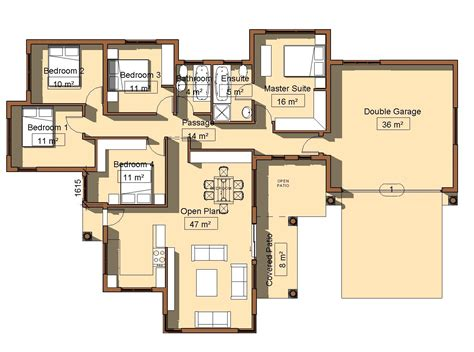 Four Bedroom House Floor Plans house plan mlb 001s my building plans